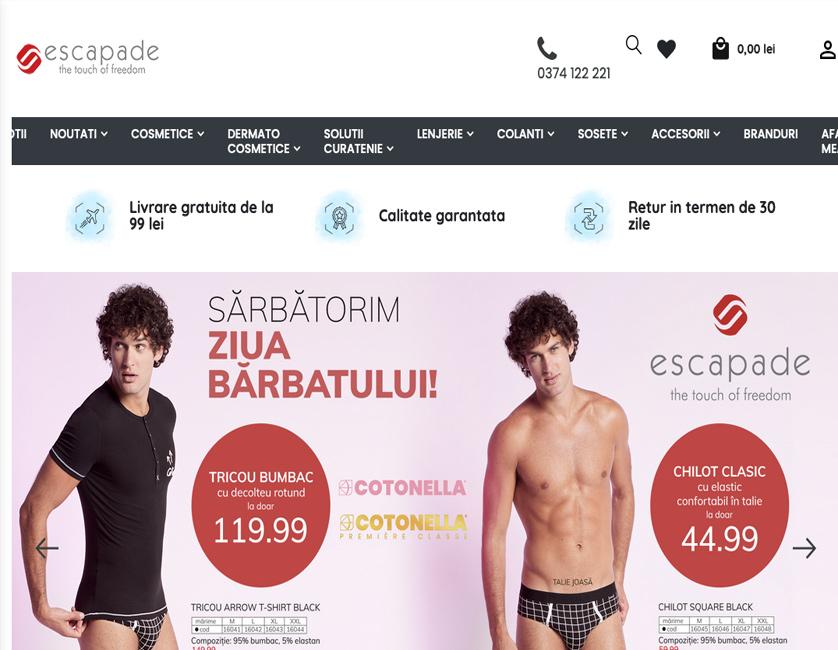 Escapade e-commerce platform