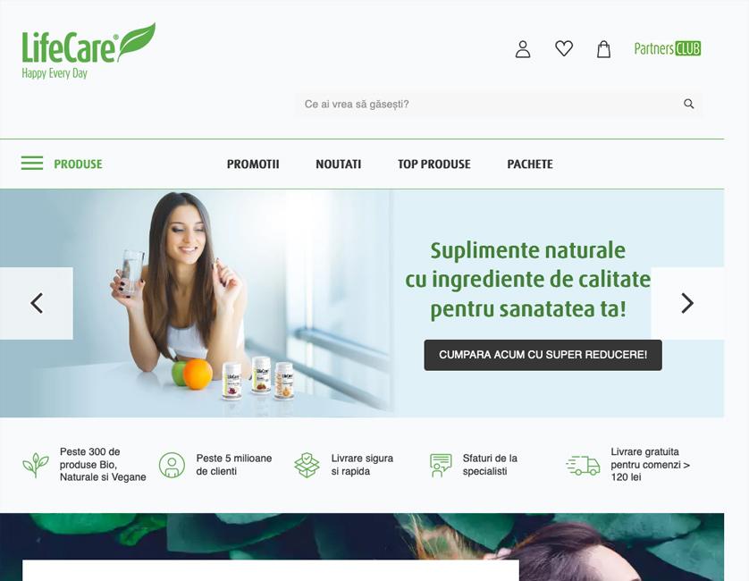 Life Care e-commerce platform